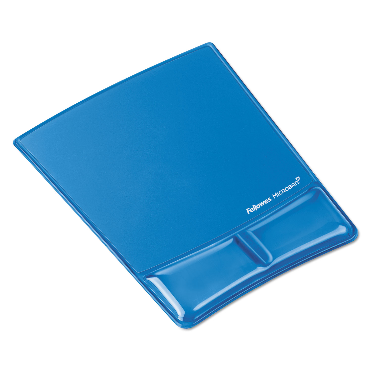Gel Wrist Support w/Attached Mouse Pad, Blue