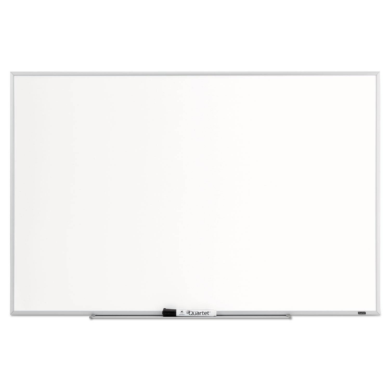 Dry Erase Board, Melamine Surface, 36 x 24, Silver Aluminum Frame