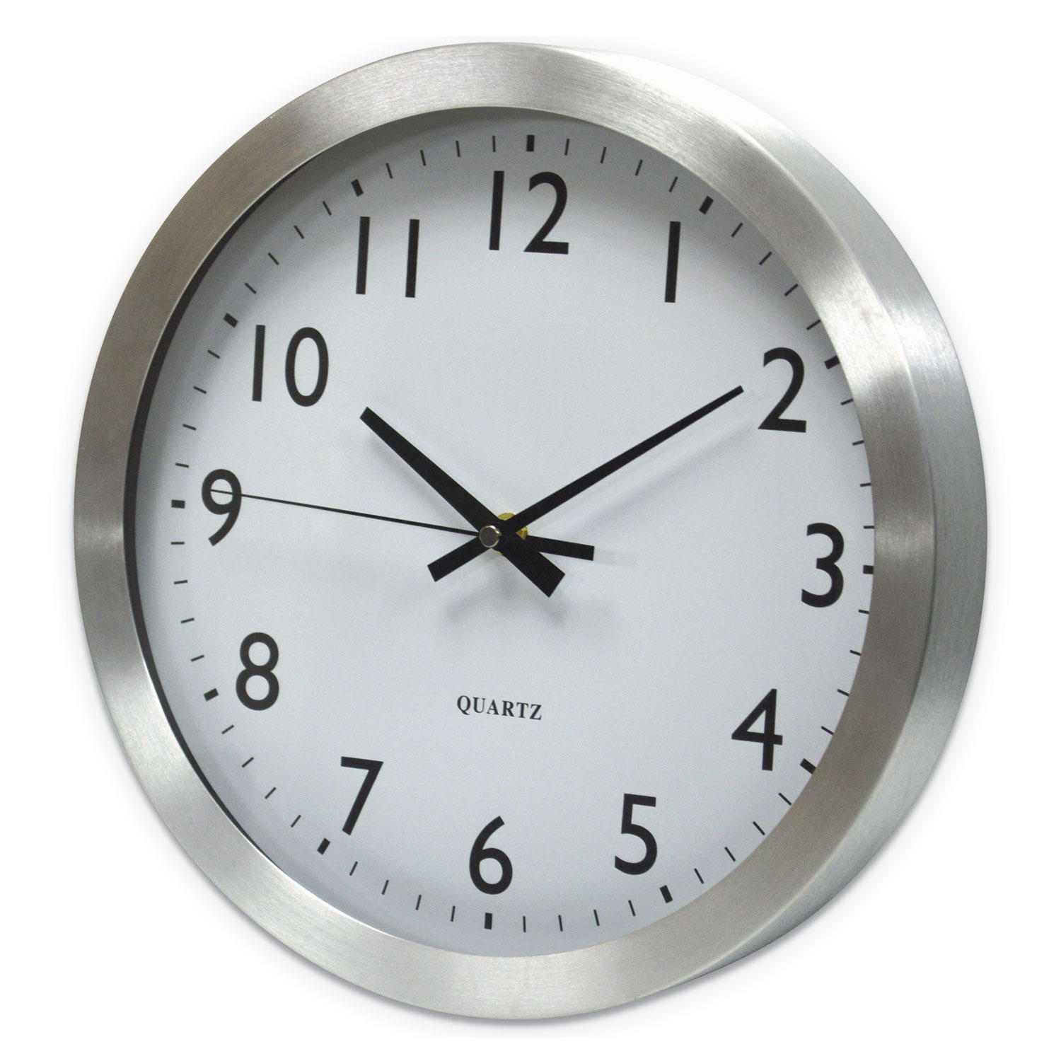 Brushed Aluminum Wall Clock, 12
