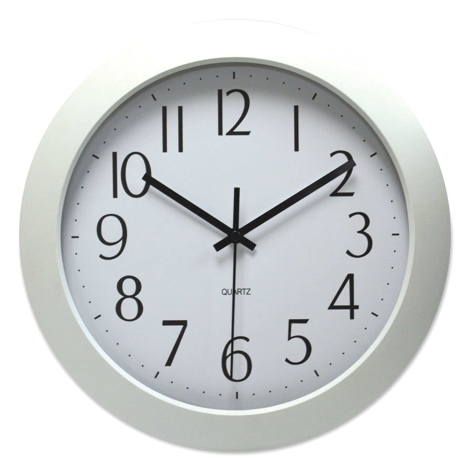 """Whisper Quiet Clock, 12"""" Overall Diameter, White Case, 1 AA (sold separately)"""