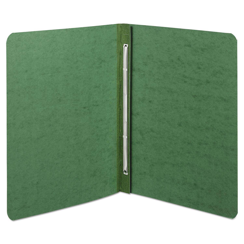 "Presstex Report Cover, Side Bound, Prong Clip, Letter, 3"" Cap, Dark Green"