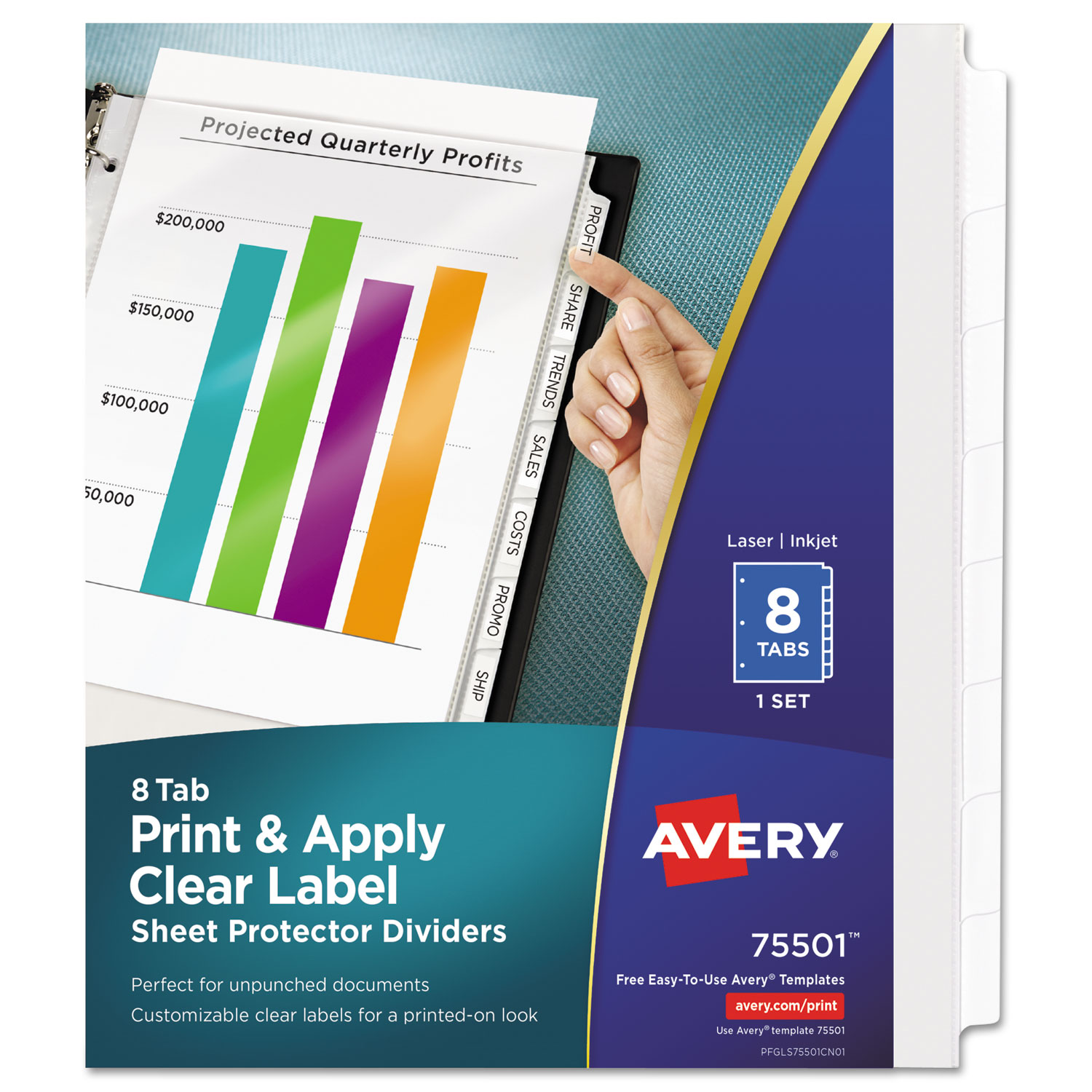 Index Maker Print Apply Clear Label Sheet Protector Dividers By