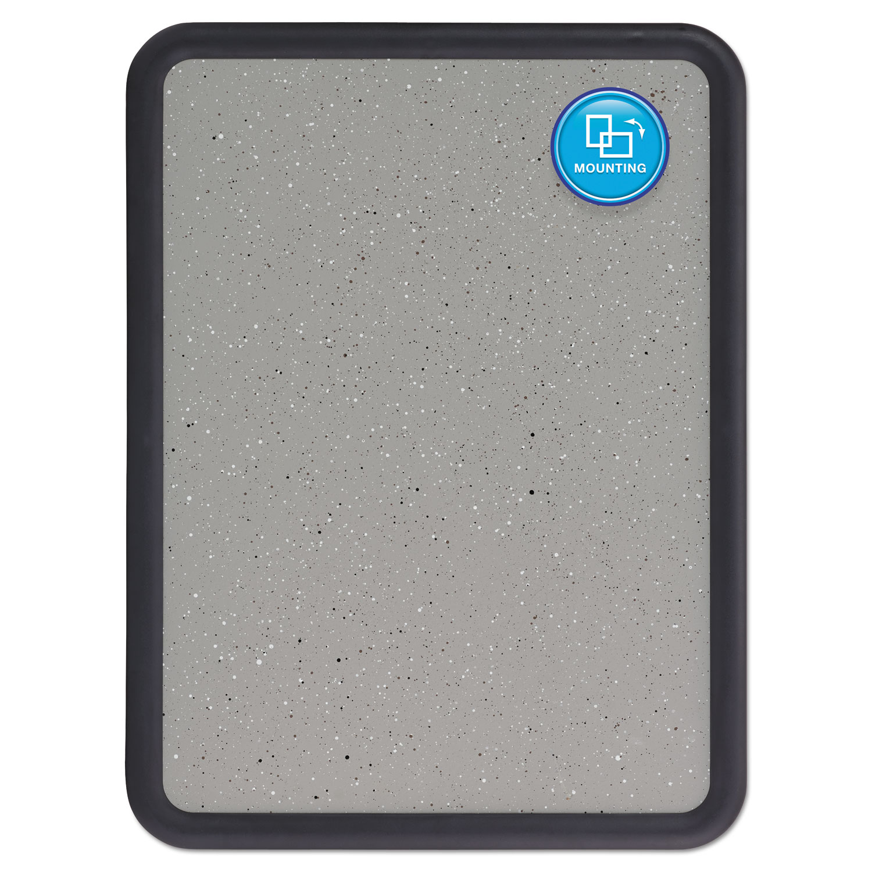 Contour Granite Gray Tack Board 36 X 24 Black Frame