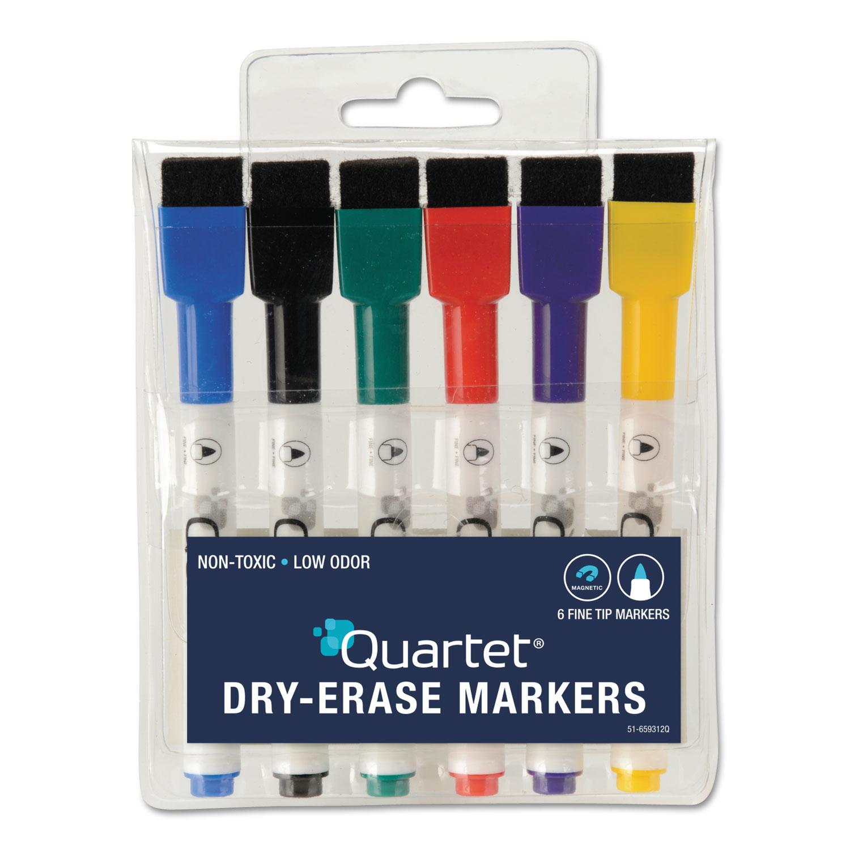 Low Odor Rewritables Dry Erase Mini Marker Set Fine Tip Assorted