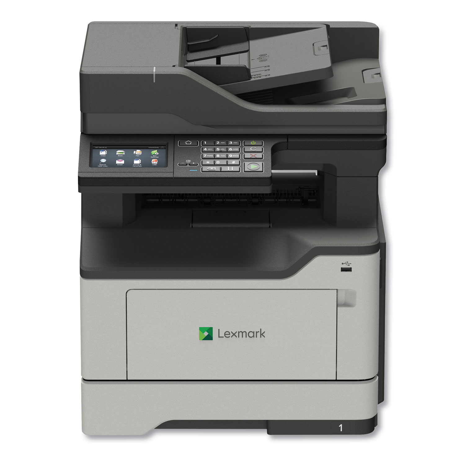 MX421ade Monochrome Laser Multifunction Printer, Copy/Fax/Print/Scan
