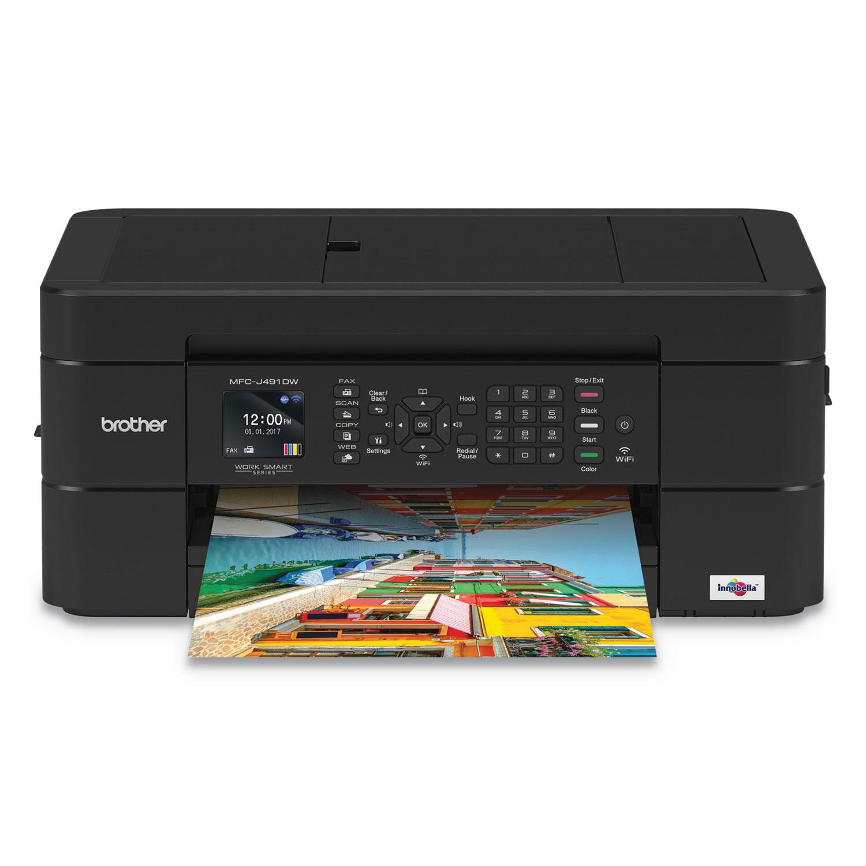 Work Smart MFC-J491DW Multifunction Inkjet, Copy/Fax/Print/Scan