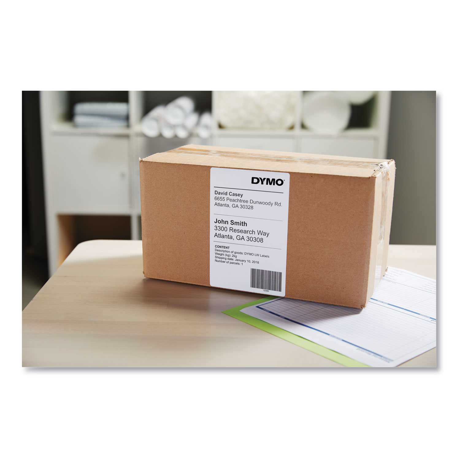 LW Extra-Large Shipping Labels, 4 x 6, White, 220/Roll, 10 Rolls/Pack
