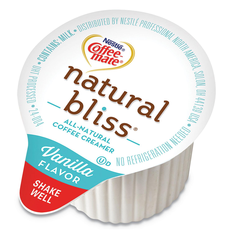 Natural Bliss Dairy Creamers, Vanilla, 0.375 oz, Carton, 180/Carton