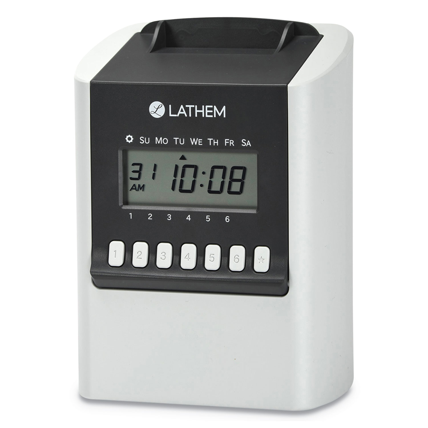 700E Calculating Time Clock, White