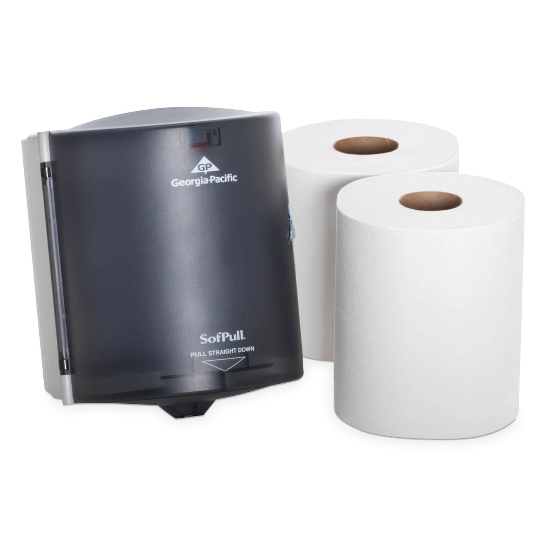 10-7//8w X 10-3//8d X 11-1//2h GPC58201 Smoke Center Pull Towel Dispenser
