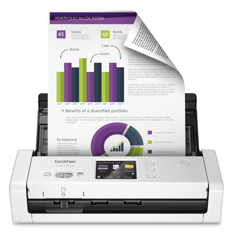 ADS1700W Dual CIS Scanner, 1200 x 1200 dpi/600 x 600 dpi