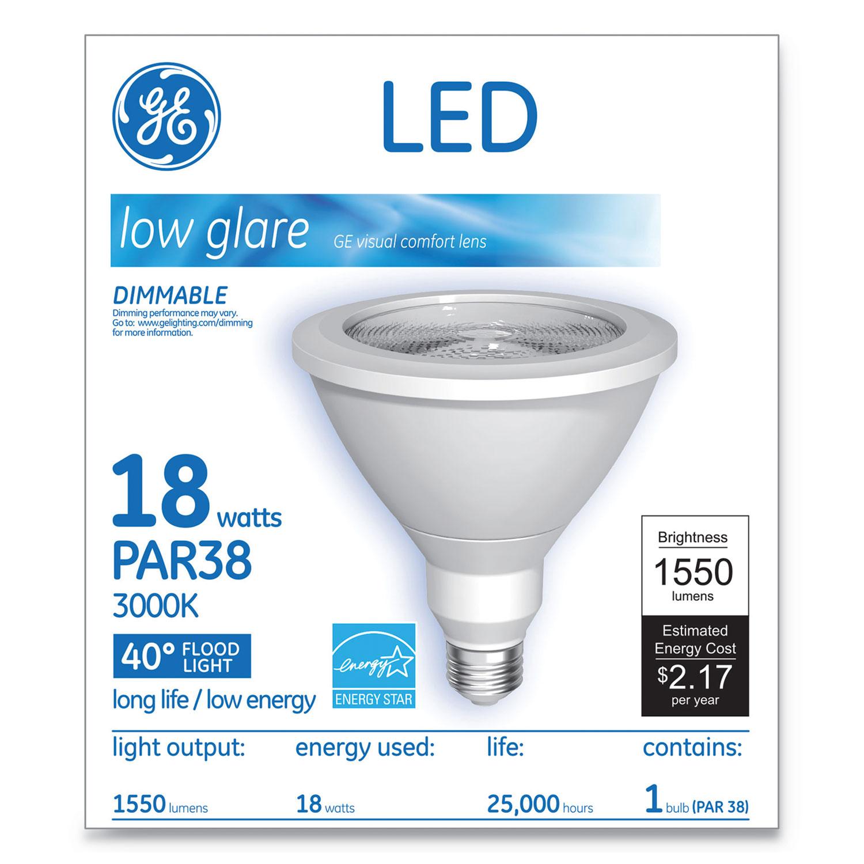 LED PAR38 Dimmable 40 Dg Warm White Flood Light Bulb, 18 W