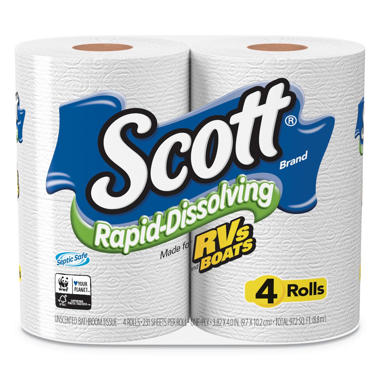 Rapid-Dissolving Toilet Paper by Scott® KCC47617 | OnTimeSupplies.com
