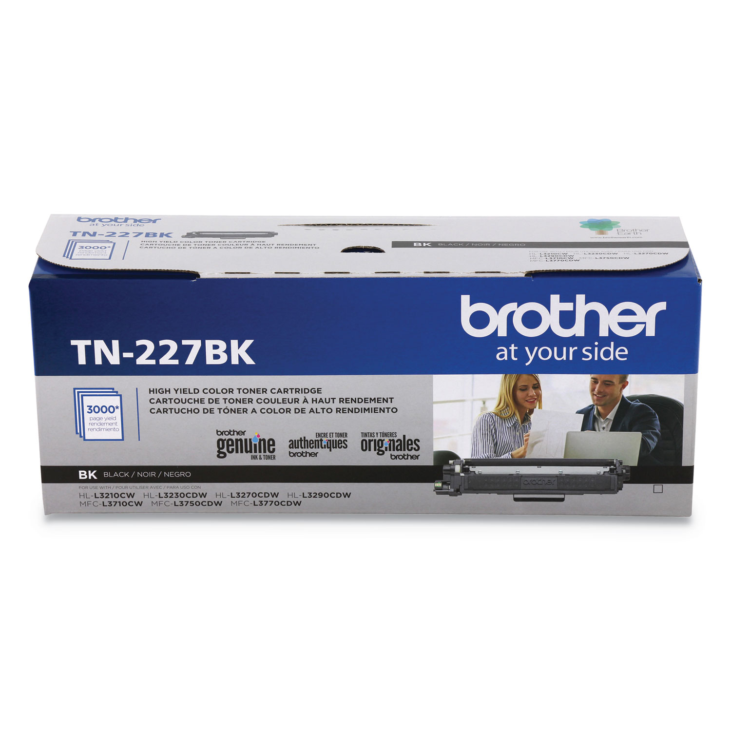 TN-227BK High-Yield Toner, 3000 Page-Yield, Black