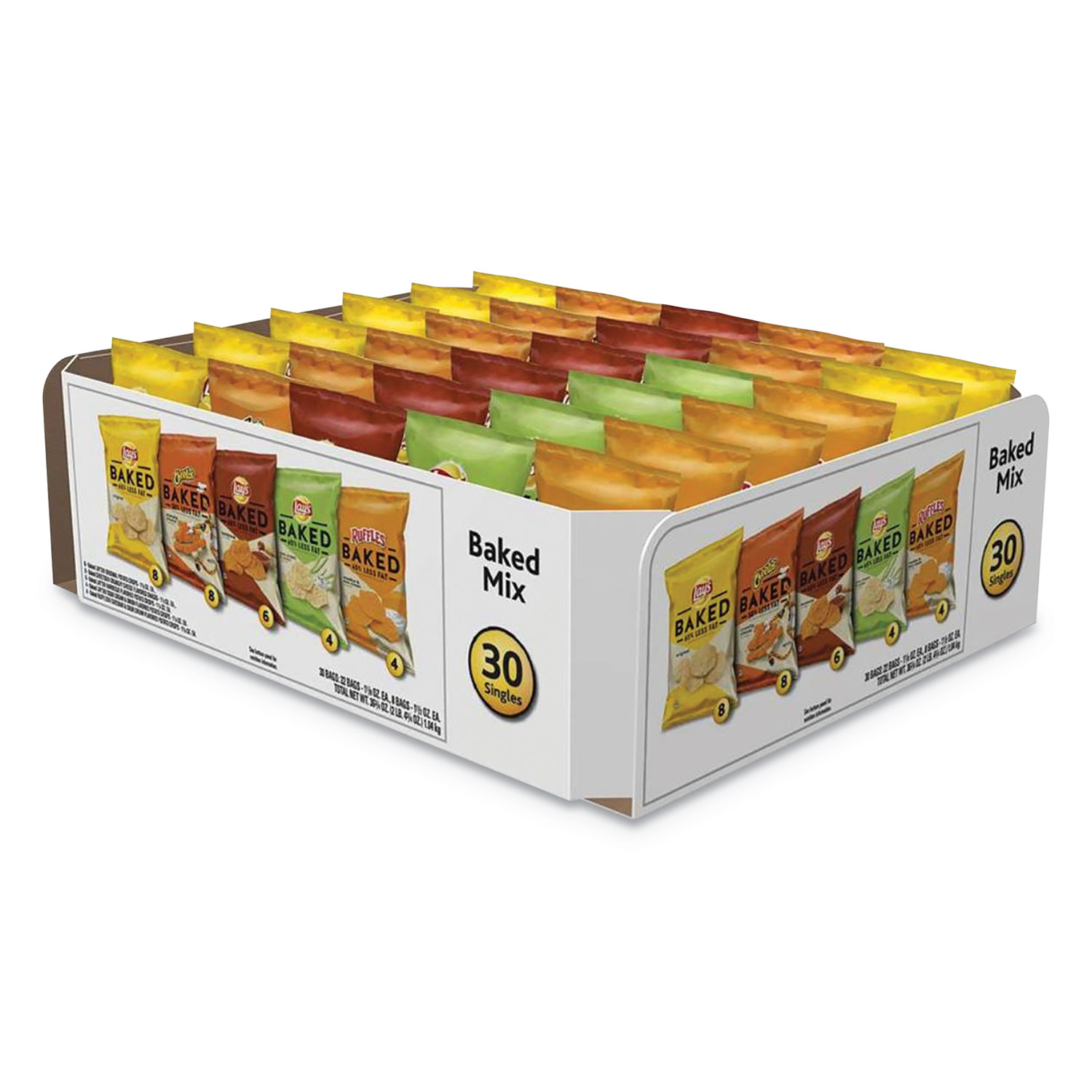 Baked Variety Pack, BBQ/Crunchy/Cheddar and Sour Cream/Classic/Sour Cream and Onion, 30/Box