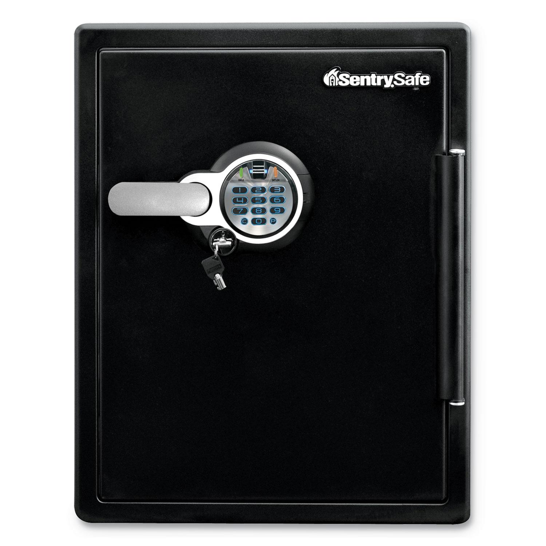 Fire-Safe with Biometric & Keypad Access, 2 cu ft, 18.6w x 19.3d x 23.8h, Black