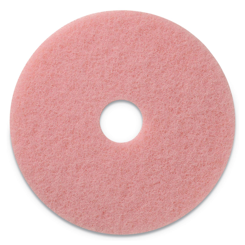 "Remover Burnishing Pads, 20"" Diameter, Pink, 5/CT"