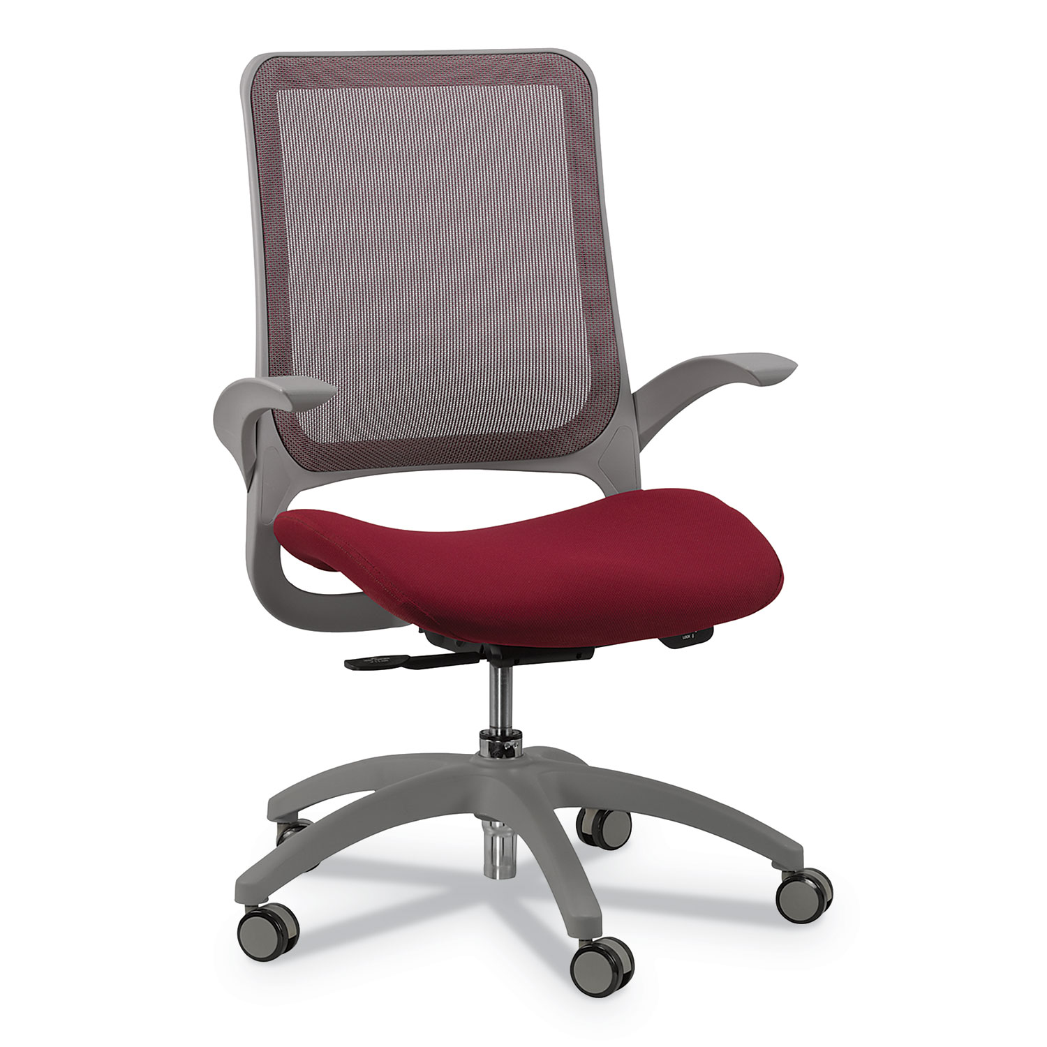Fabulous Hawk Mesh Back Chair Supports Up To 250 Lbs Burgundy Seat Black Back Black Base Dailytribune Chair Design For Home Dailytribuneorg