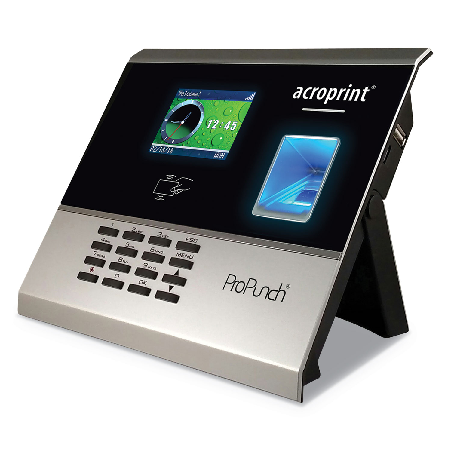 ProPunch Biometric Add-On Terminal, Automatic, 3000 Employees, Black