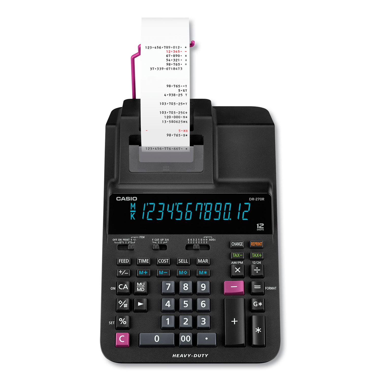 DR-270R Printing Calculator, 2 Print, 4.8 Lines/Sec