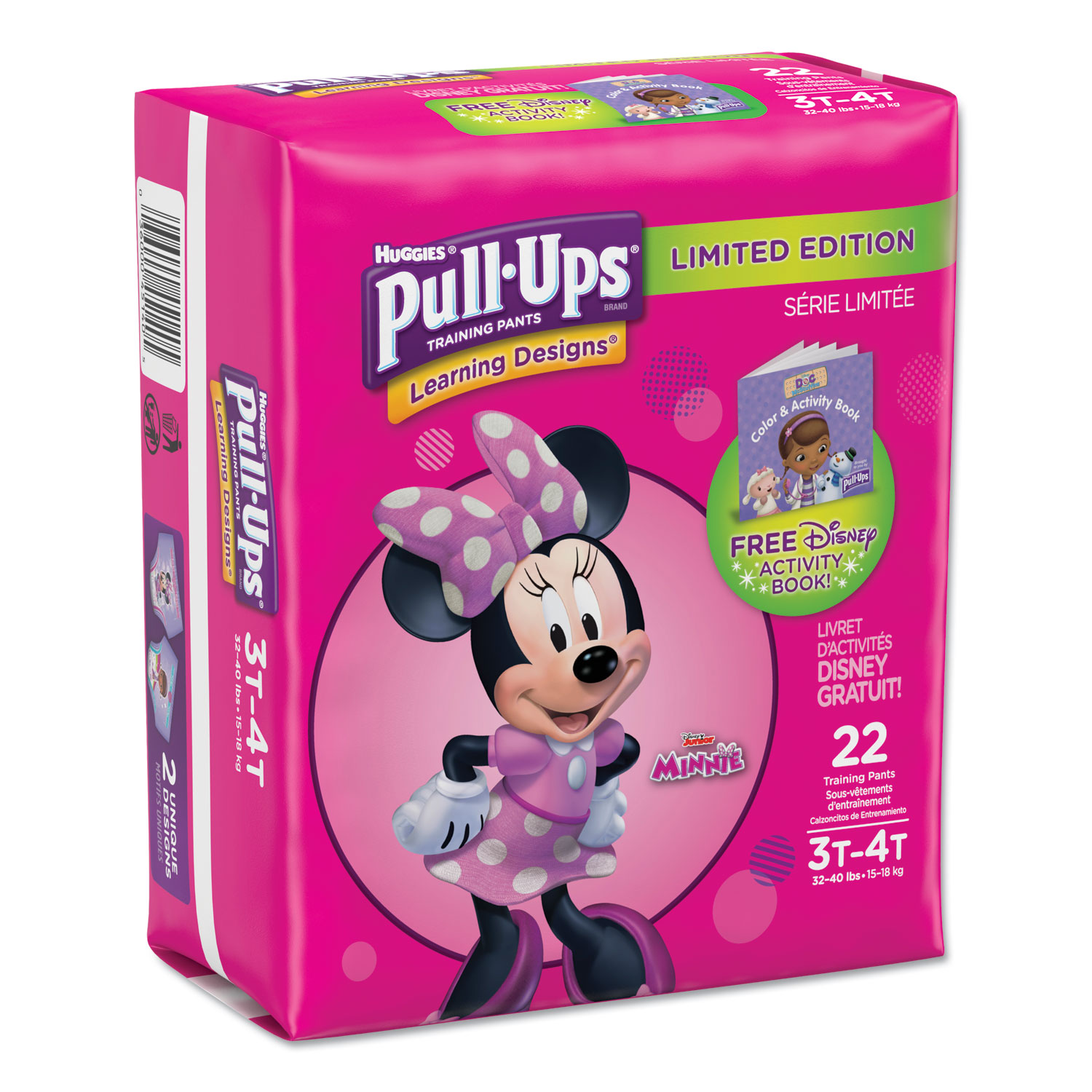 Pull-Ups Learning Designs Potty Training Pants for Girls, Size 3T-4T, 22/Pack