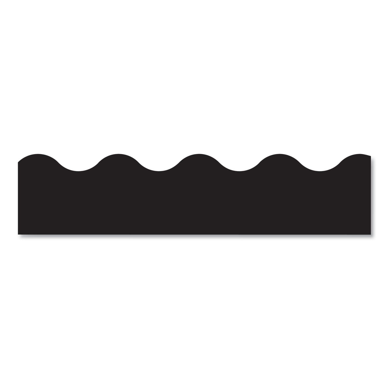 "Terrific Trimmers Solid Colors Board Trim, 2 1/4"" x 39 ft, Black"