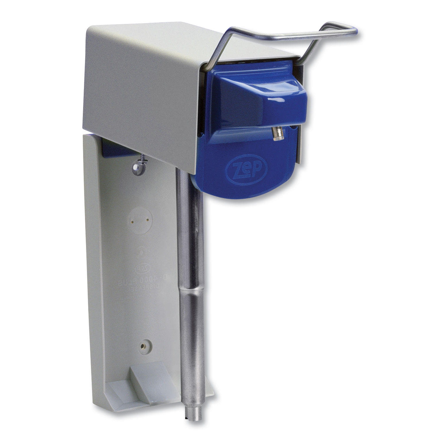Heavy Duty Hand Care Wall Mount System, 1 gal, 5 x 4 x 14, Silver/Blue