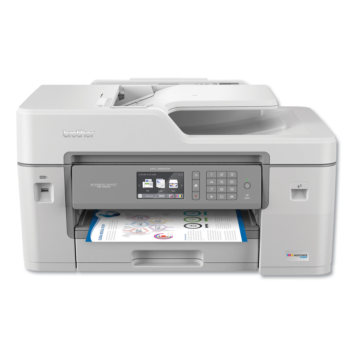 BRTMFCJ6545DW All-In-One Inkjet, Copy/Fax/Print/Scan
