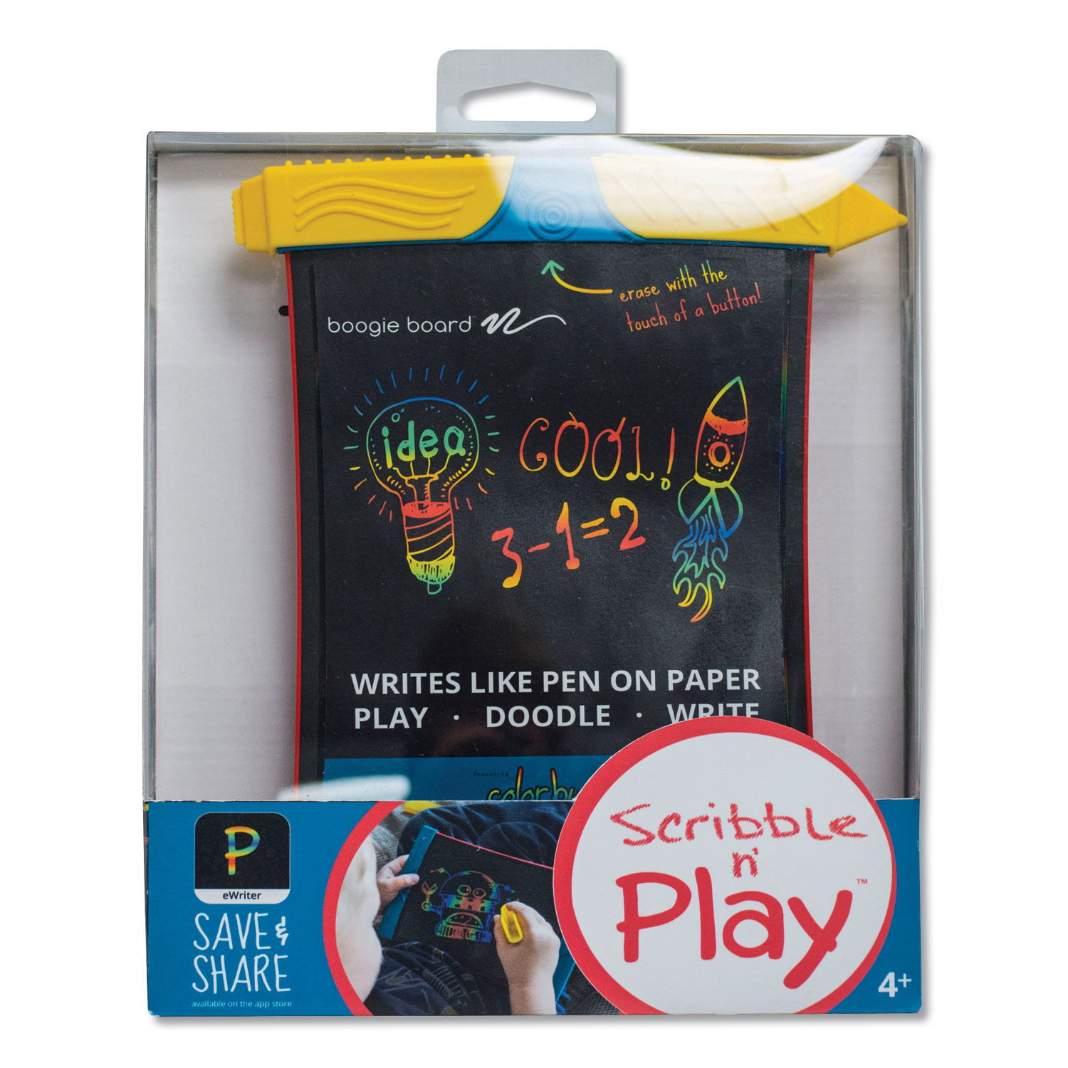 "Scribble N' Play, 5"" x 7"" Screen, Black/Red/Yellow"