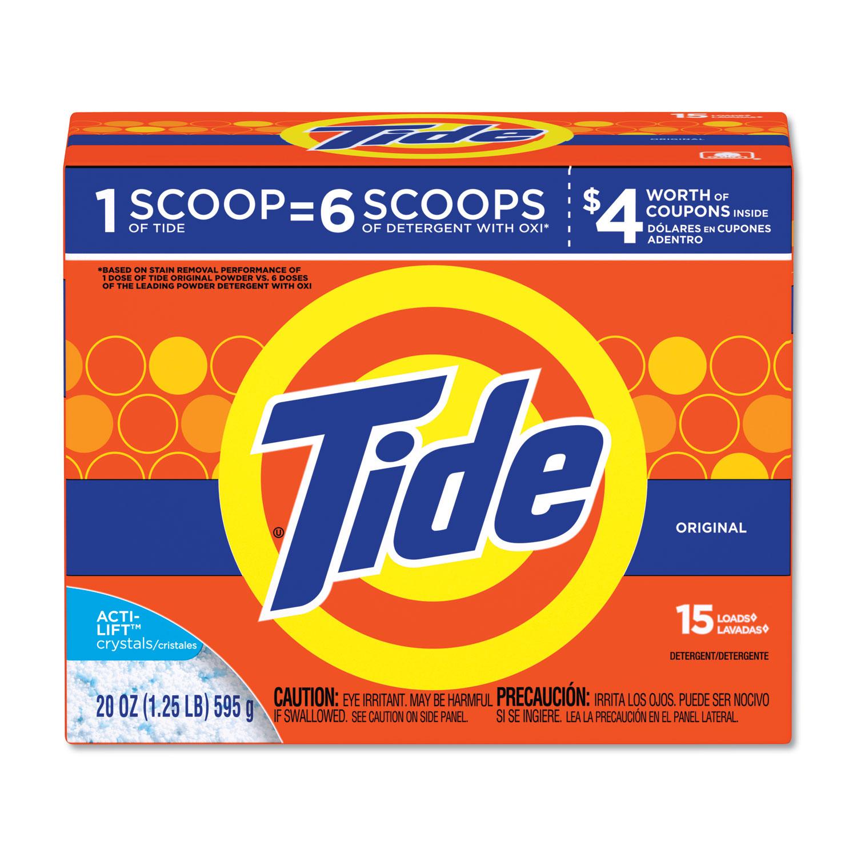 Powder Laundry Detergent, Original Scent, 20 oz Box