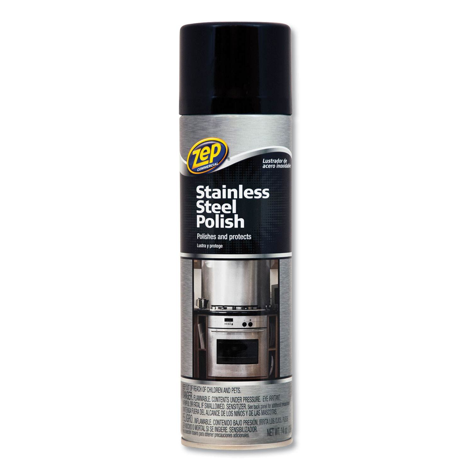 Stainless Steel Polish, 14 Oz Aerosol, 12/Carton