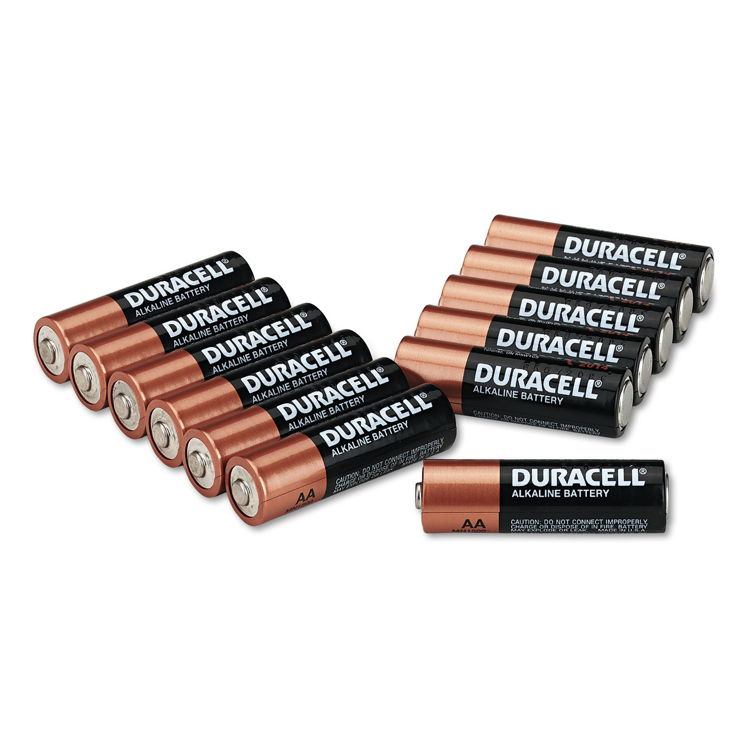 CopperTop Alkaline Batteries, AA, 12/PK - Sierra Office