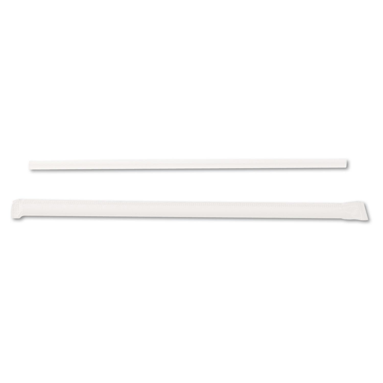 Jumbo Straws, 7 3/4″, Plastic, Translucent, 500/Box, 4 Boxes/Carton