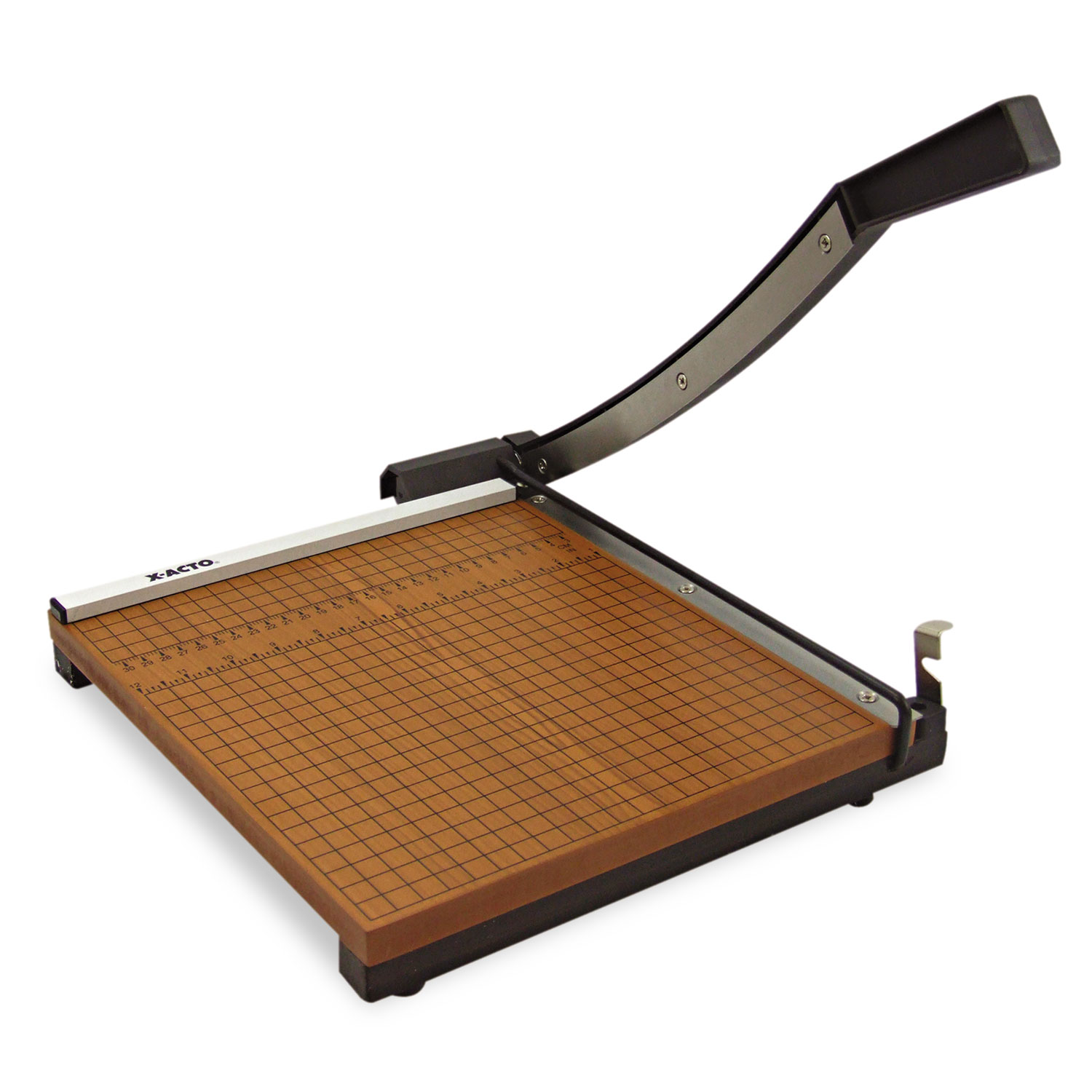 """Square Commercial Grade Wood Base Guillotine Trimmer, 10 Sheets, 12"""" x 12"""""""