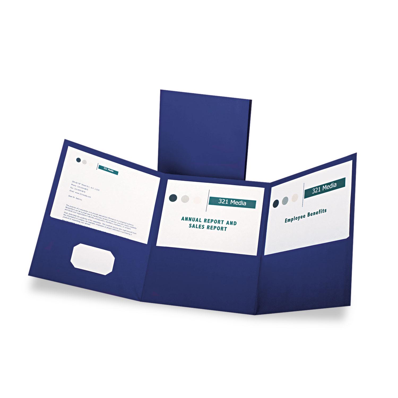 Tri-Fold Oxford® Pocket Folder   OnTimeSupplies.com ...