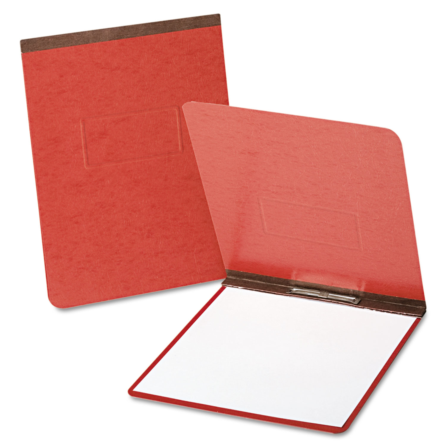 """PressGuard Coated Report Cover, Prong Clip, Letter, 2"""" Capacity, Red"""