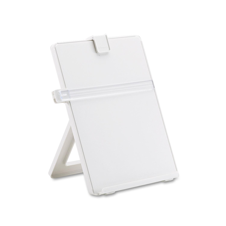Non-Magnetic Desktop Copyholder, Plastic, 125 Sheet Capacity, Platinum