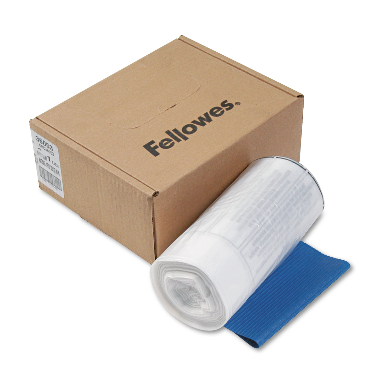 Shredder Waste Bags, 9 gal Capacity, 100/Carton