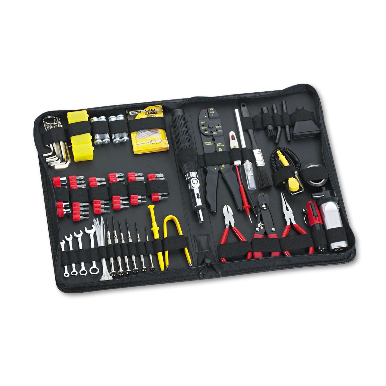 100-Piece Computer Tool Kit in Black Vinyl Zipper Case