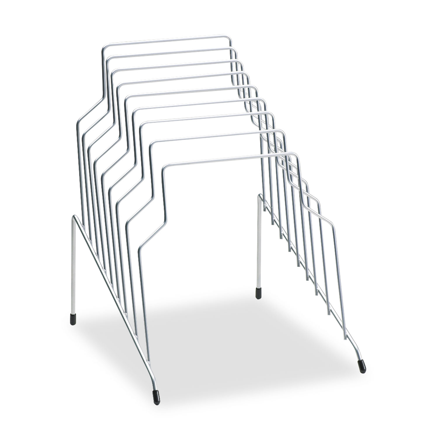 """Wire Step File, 8 Sections, Letter to Legal Size Files, 10.13"""" x 12.13"""" x 11.81"""", Silver"""