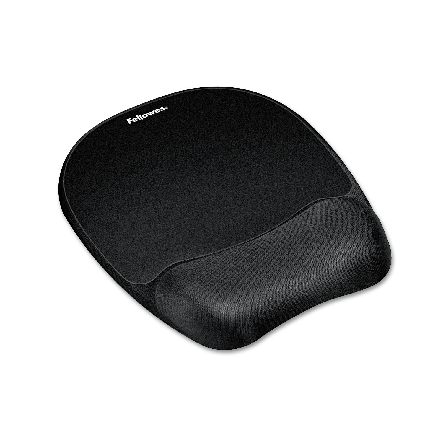 Mouse Pad w/Wrist Rest, Nonskid Back, 7 15/16 x 9 1/4, Black