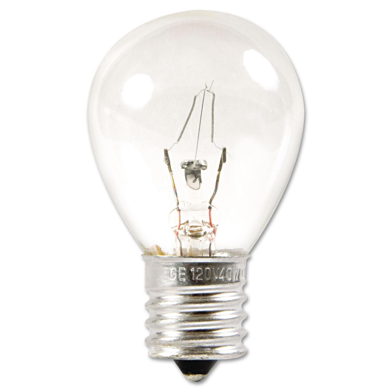 Incandescent S11 Appliance Light Bulb, 40 W