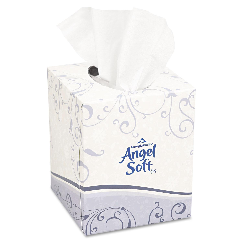 Premium Facial Tissue, 2-Ply, White, Cube Box, 96 Sheets/Box