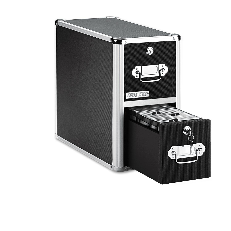 2-Drawer CD File Cabinet, Holds 330 Folders or 120 Slim/60 Standard Cases, Black