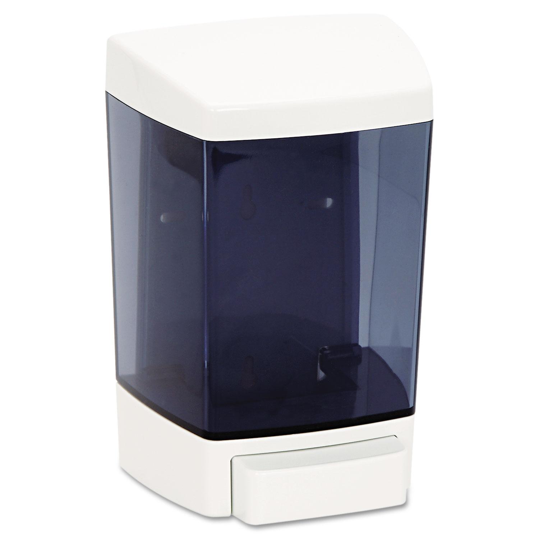 """ClearVu Plastic Soap Dispenser, 46 oz, 5.5"""" x 4.25"""" x 8.5, White"""