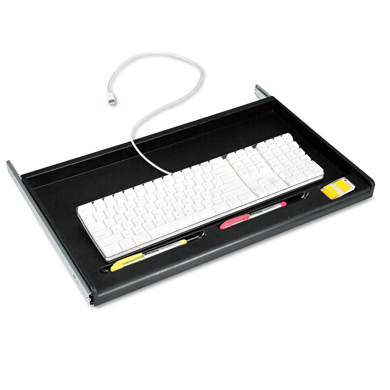 shelf drawer under beautiful for well desk sliding black computer as luxury tray keyboard complete underdesk kit