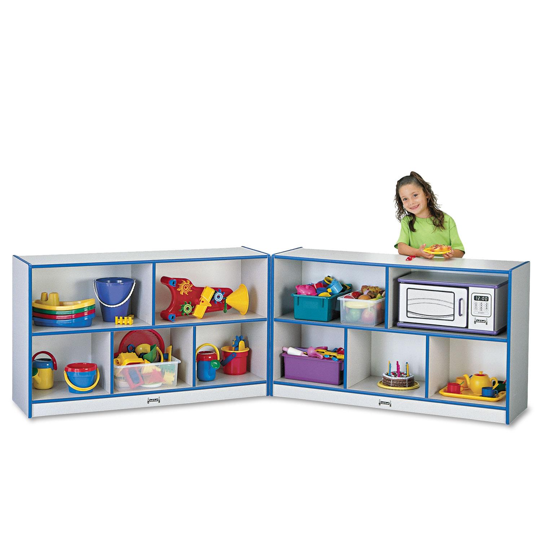 Rainbow Accents Fold-n-Lock Storage Unit, 48w x 15d x 29-1/2h, Blue/Gray
