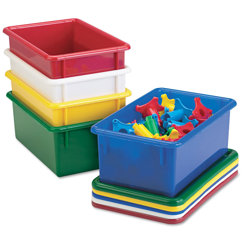 Cubbie Trays, 8-5/8w x 13-1/2d x 5-1/4h, Yellow