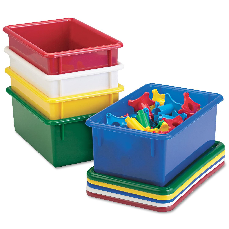 Cubbie Trays, 8-5/8w x 13-1/2d x 5-1/4h, Green
