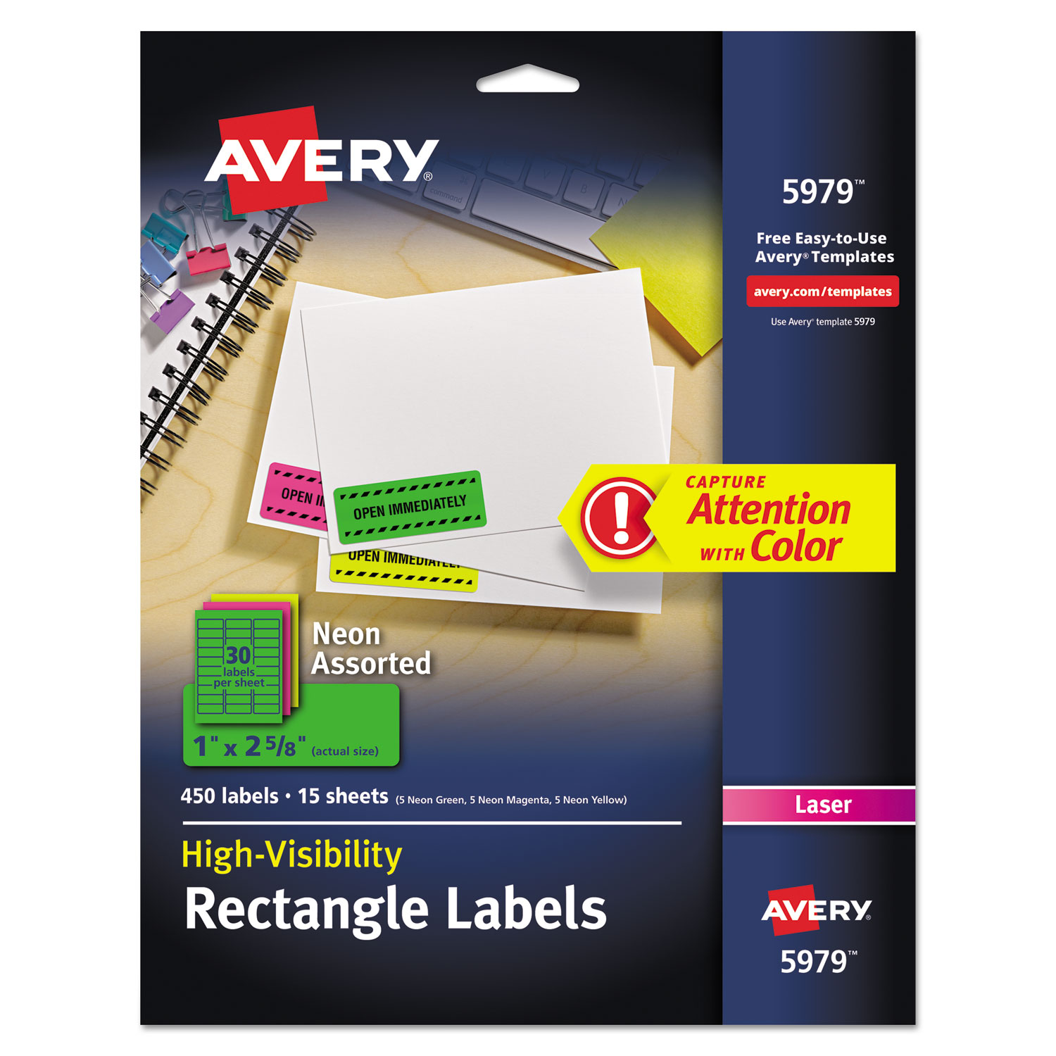 purchase high visibility id labels and other office labels